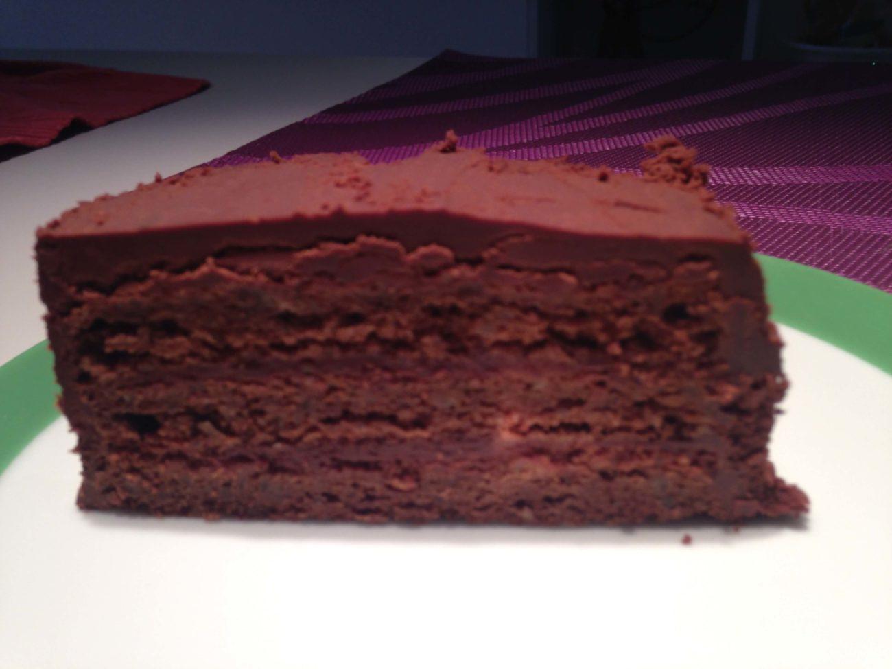 Schokoladenschnitte mit Parisercreme