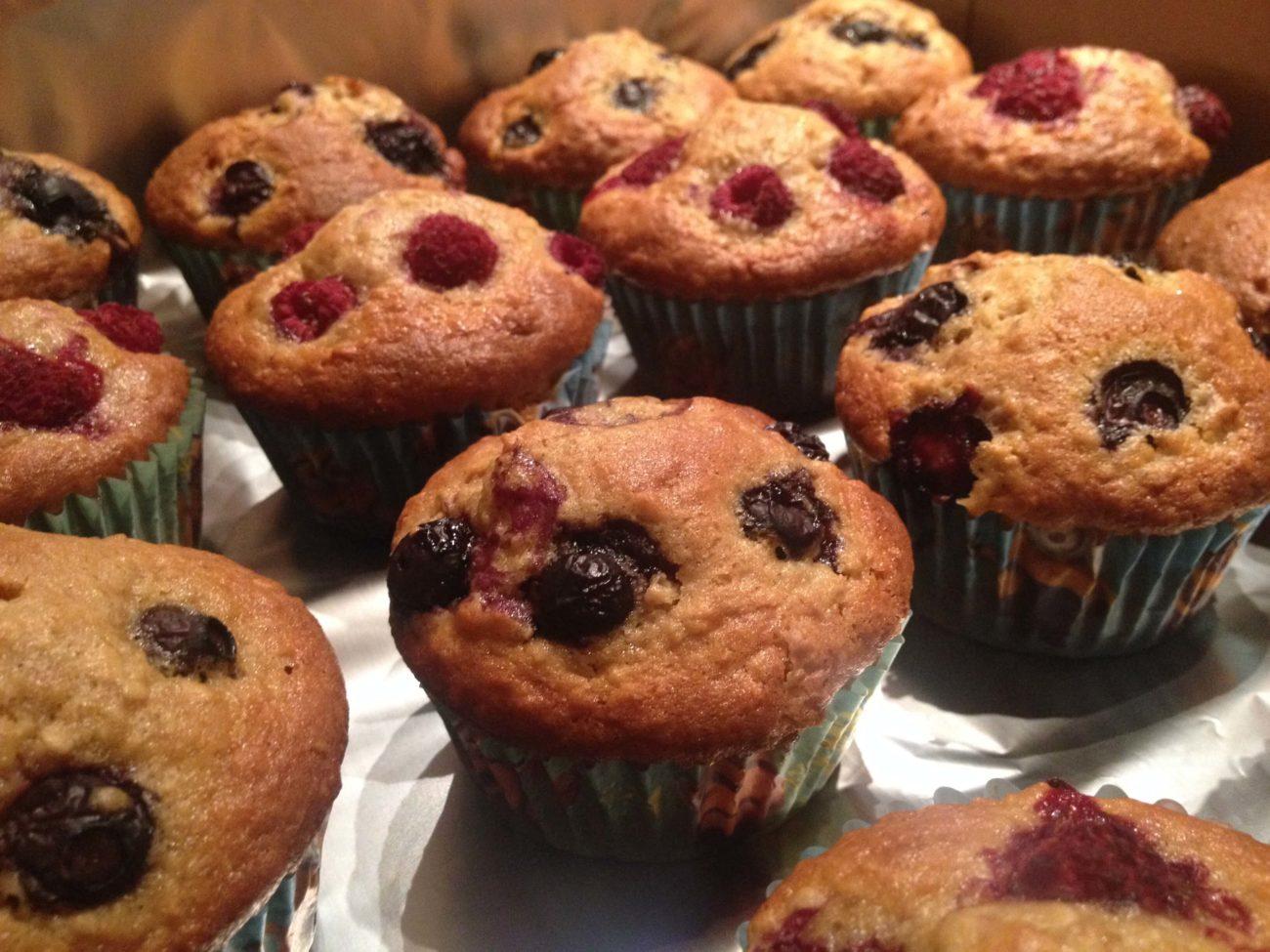Himbeer-Heidelbeer Muffins